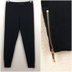 Kate Spade NY Ankle Zip Bow Black Knit Leggings